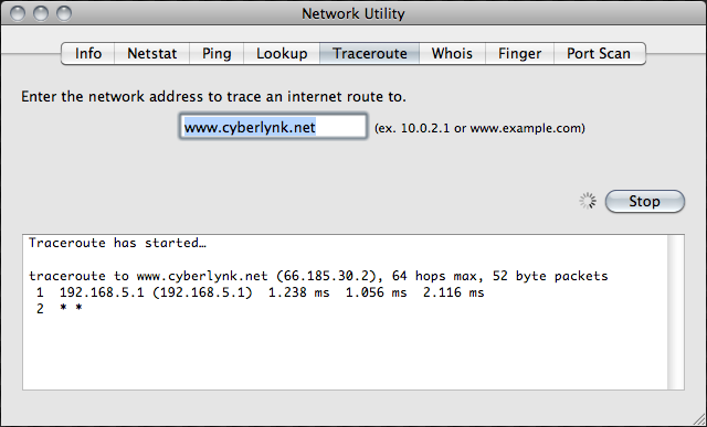 network utility interface